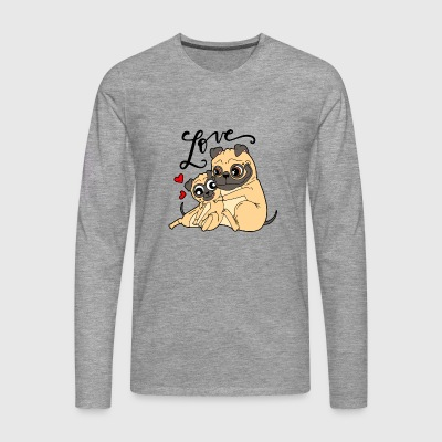 Dog love - Men's Premium Longsleeve Shirt