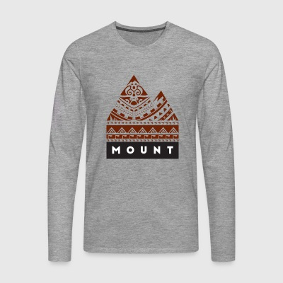Mountains by TeMoana - Männer Premium Langarmshirt