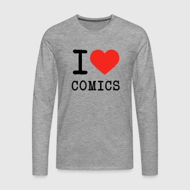 I love comics - Men's Premium Longsleeve Shirt