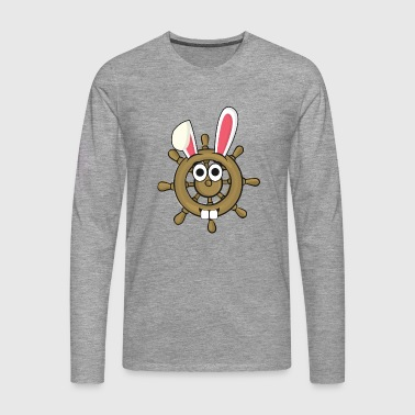 Sailor Sailor Steering Wheel Easter Bunny Easter Gift - Men's Premium Longsleeve Shirt
