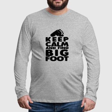 Big Foot Search Hunter Camping Monster Gift - Camiseta de manga larga premium hombre