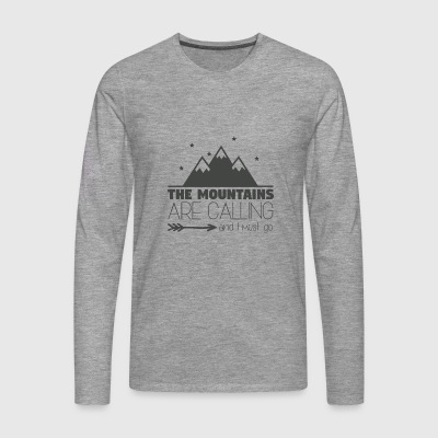 The Mountains are Calling - Mannen Premium shirt met lange mouwen