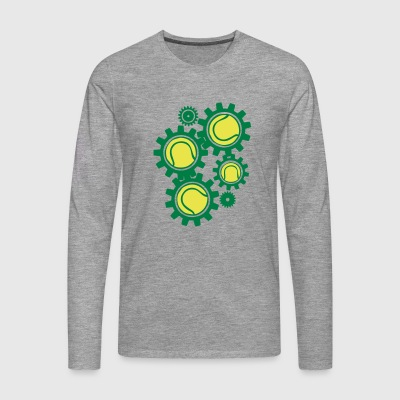 tennis gear gearing getriebe in ori - Men's Premium Longsleeve Shirt