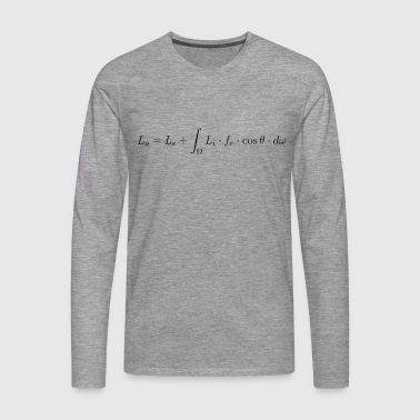 Transport equation of light. - Men's Premium Longsleeve Shirt