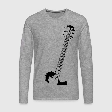 Electric guitar neck - Men's Premium Longsleeve Shirt