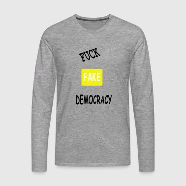 fake democracy - Men's Premium Longsleeve Shirt