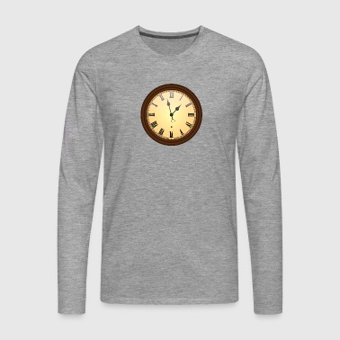 wall clock - Men's Premium Longsleeve Shirt