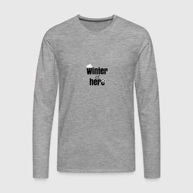 De winter is hier - Mannen Premium shirt met lange mouwen