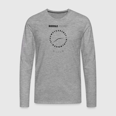 Riddle Clock Gamer - Men's Premium Longsleeve Shirt
