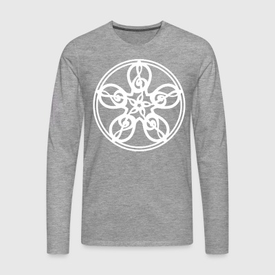 CELTIC CLEF MANDALA (white) - Men's Premium Longsleeve Shirt