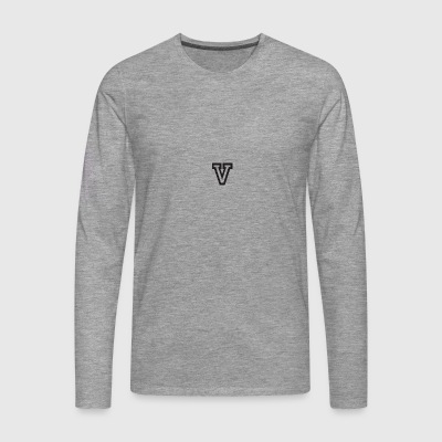 Bold Luv Sweater With V - Men's Premium Longsleeve Shirt