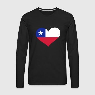 Chile Herz; Heart Chile - T-shirt manches longues Premium Homme