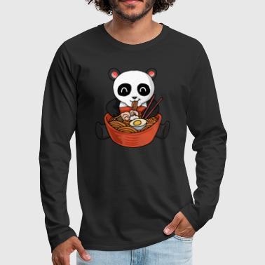Right Ramen Panda Pasta Instant Soup Ramen Bear - Men's Premium Longsleeve Shirt