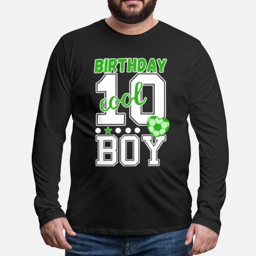 10 Geburtstag Nummer 10 Fussball Junge Manner Premium Langarmshirt