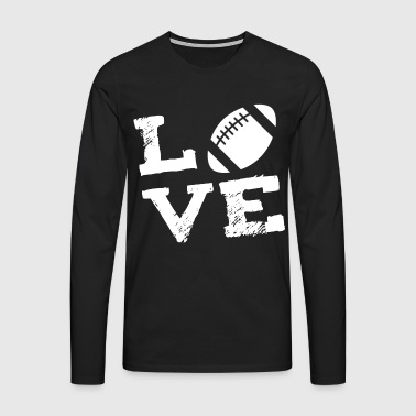 LOVE - American Football - Premium langermet T-skjorte for menn