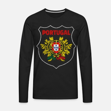 Portugal Portugal Nationalsymbol Nationalfarben Wappen Welt - T-shirt manches longues Premium Homme