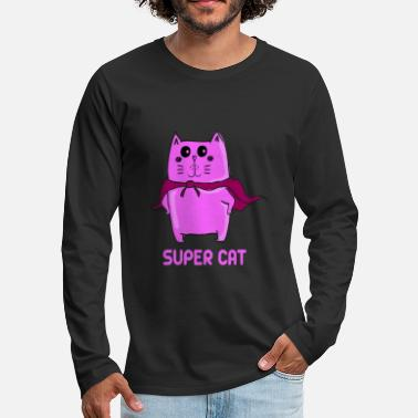 Super Super cat super - cat - Men's Premium Longsleeve Shirt