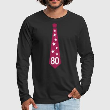 80th Birthday Tie - Men's Premium Longsleeve Shirt