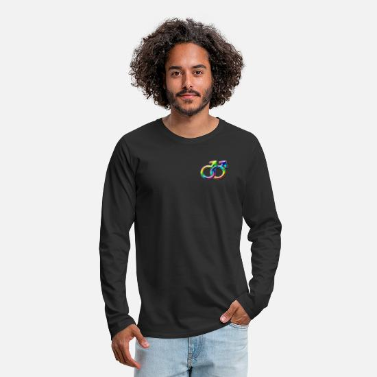 Gay Pride Long sleeve shirts - Males Together - Men's Premium Longsleeve Shirt black
