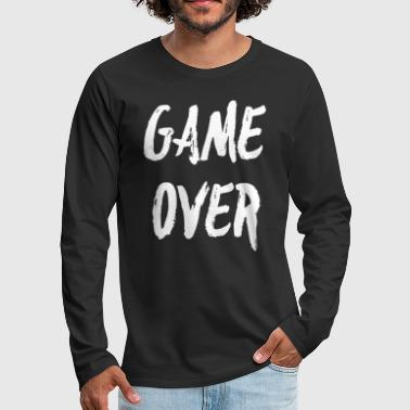 GAME OVER - Camiseta de manga larga premium hombre