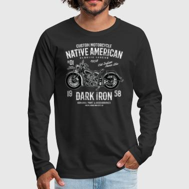 NATIVE AMERICAN - Vintage Motorcycle Shirt Gift - Men's Premium Longsleeve Shirt