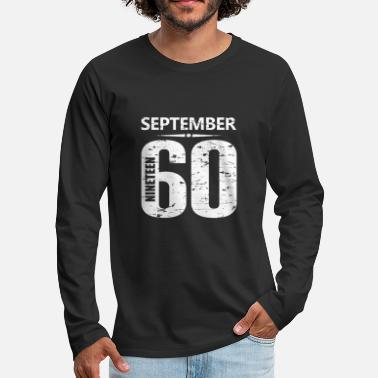Jersey Number September 1960 Jersey Number - Men's Premium Longsleeve Shirt