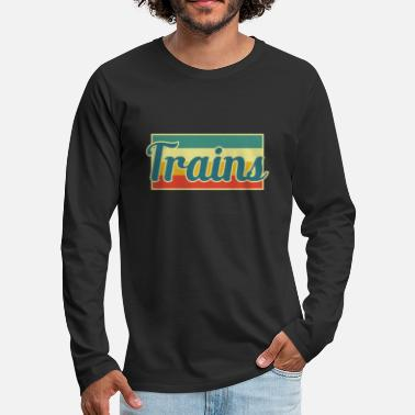 Training Trains - Men's Premium Longsleeve Shirt