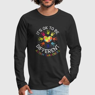 It's ok to be different - Autism Awareness - Men's Premium Longsleeve Shirt