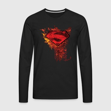 Superman S-Shield Ornate Men Longsleeve shirt - Premium langermet T-skjorte for menn