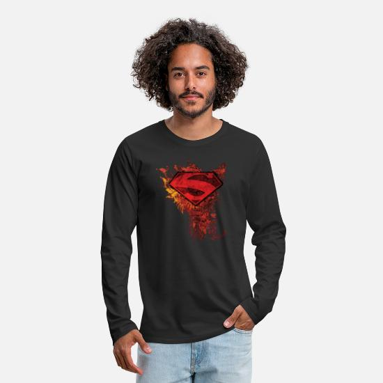 Superman Shirts met lange mouwen - Superman S-Shield Ornate Men Longsleeve shirt - Mannen premium longsleeve zwart