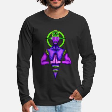 Trippy Brain radiating - Men's Premium Longsleeve Shirt