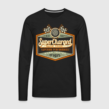 SSD Super Chaged RAHMENLOS Race Team Biker Motorcycle Design 1975 Road Tested - Männer Premium Langarmshirt