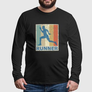 Sprint Vintage Style Sprinter Jogging Running Workout - T-shirt manches longues Premium Homme