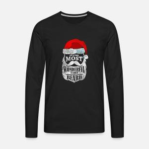 4980bb9183a1a Les faits Bart Beard dictons cadeau Père Noël d hiver T-shirt ...