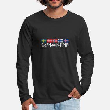 Scandinavia SCANDINAVIA - runic writing flags Scandinavia - Men's Premium Longsleeve Shirt