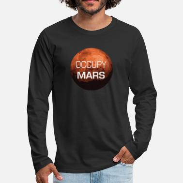 Occupy Occupy Mars - Planet - T-shirt manches longues Premium Homme
