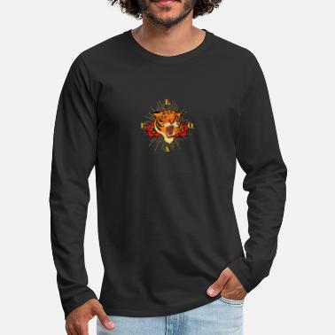 Growl Growling Tiger - Men's Premium Longsleeve Shirt