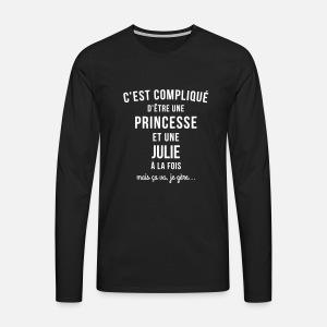 tee shirt femme prénom Julie pas cher T-shirt manches longues ... 4105fd9d1435