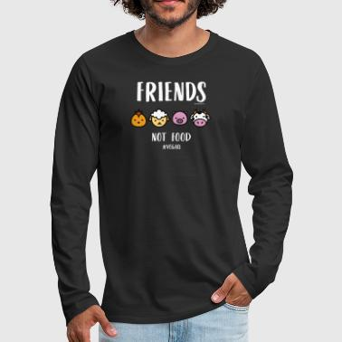 Friends Not Food #VEGAN - Men's Premium Longsleeve Shirt