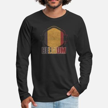 National Belgium national colors nation - Men's Premium Longsleeve Shirt