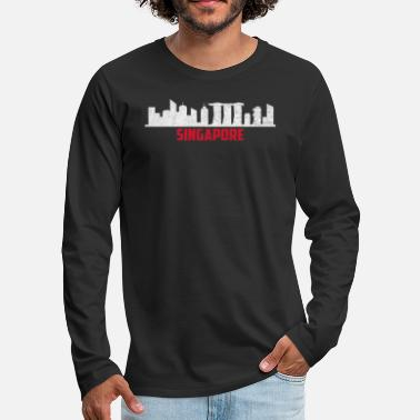National Singapore skyline Singapore nationality nation - Men's Premium Longsleeve Shirt