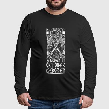 October - Viking - birthday - DE - Men's Premium Longsleeve Shirt