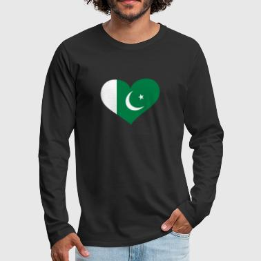 Pakistan Herz; Heart Pakistan - Men's Premium Longsleeve Shirt
