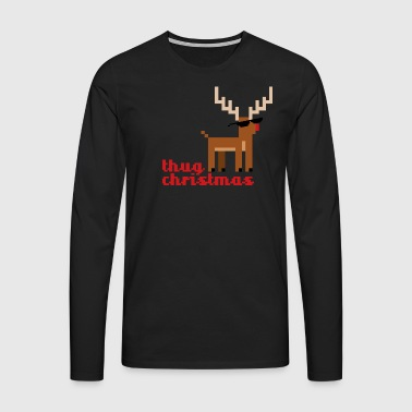 Rudolph the Red Nosed Reindeer Pixel - Men's Premium Longsleeve Shirt