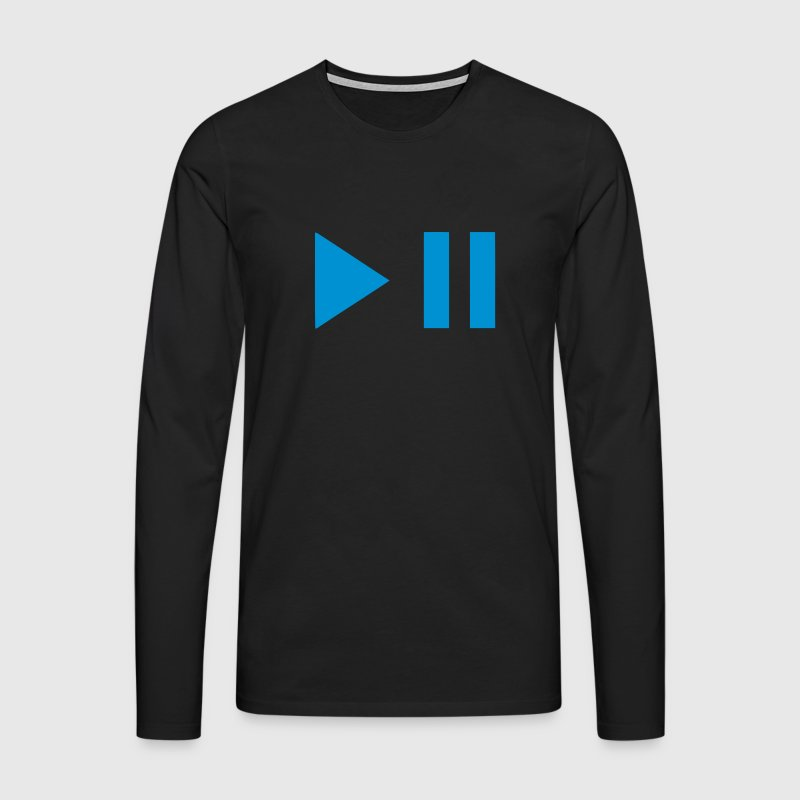 Play pause button 202 - Men's Premium Longsleeve Shirt
