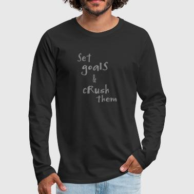 Set goals - Men's Premium Longsleeve Shirt