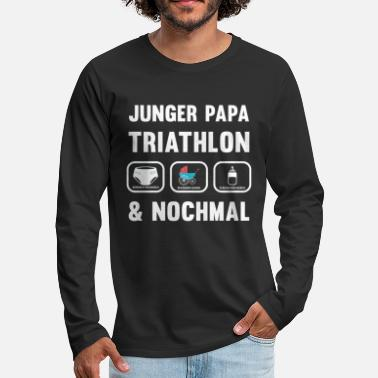 Expectant Fathers Papa Triathlon - for expectant fathers - Men's Premium Longsleeve Shirt