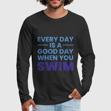 Pool Swimming swimmer gift sport swimming club - Men's Premium Longsleeve Shirt