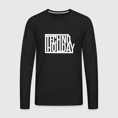 Techno Holiday - T-shirt manches longues Premium Homme