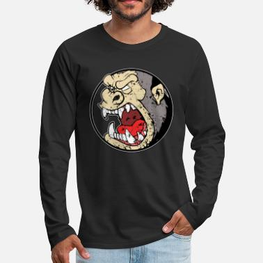 Angry Angry Gorilla - Angry Monkey - Gorilla - Mannen premium longsleeve